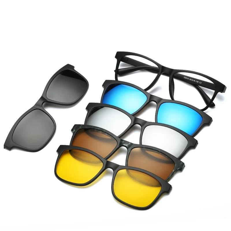 Perfect - 5 lenses Magnet Sunglasses Clip Mirrored Clip on... | Facebook