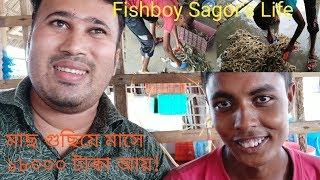 শুধু মাছ গুছিয়ে দিয়ে মাসে ১৮০০০ টাকা আয় ! Different Lifestyle Of Fish Boy Sagor