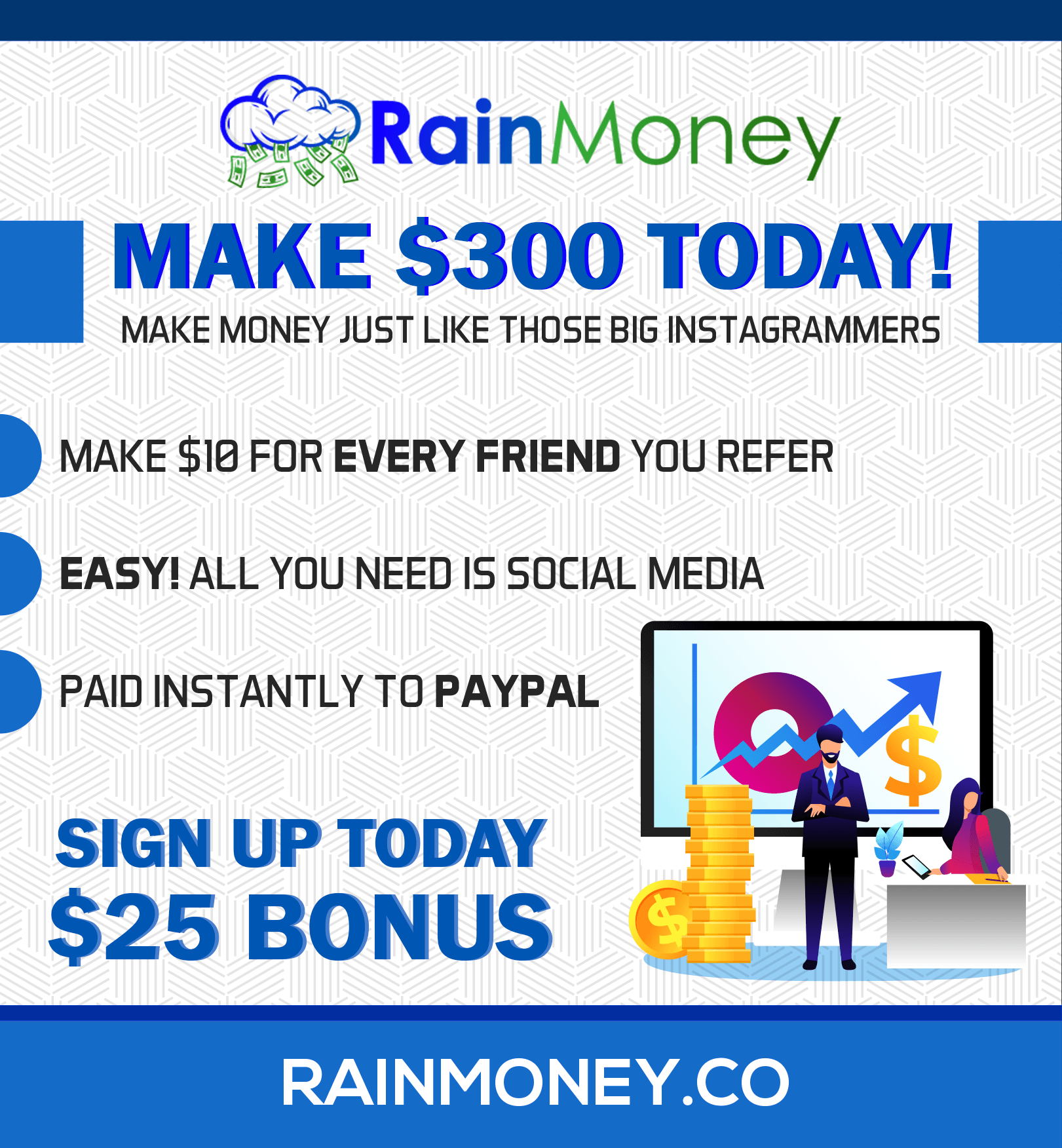 Monetize Your Social Media & Make Money Rain - RainMoney