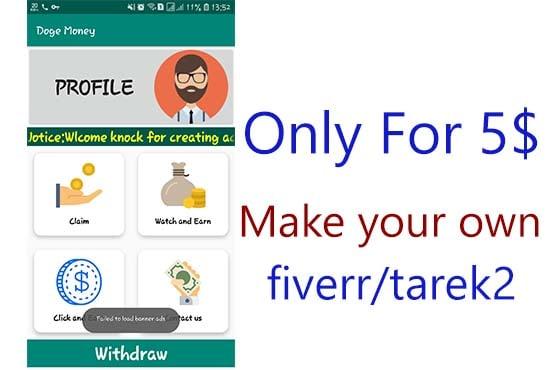 Create user friendly earning apps by Tarek2