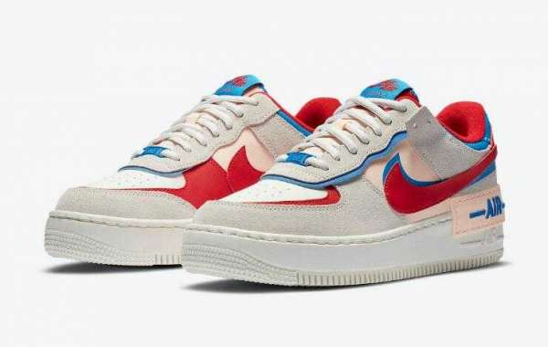 New Sale Nike Air Force 1 Shadow University Red Photo Blue CU8591-100