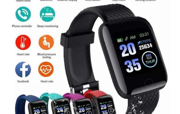 116+ Plus Waterproof Smart Sports Watch (Seamless) Fitness Tracker