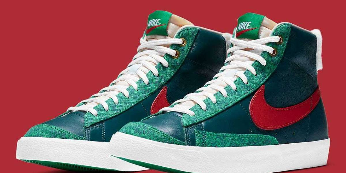 "Nike Blazer Mid '77 ""Nordic"" Christmas Sweaters DC4410-300"