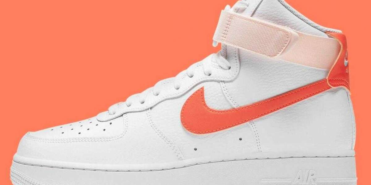 2021 Latest Nike Air Force 1 High Pearl Orange Release For Women