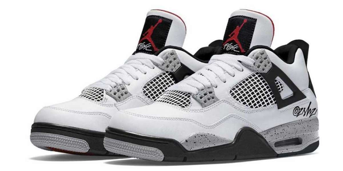 "Air Jordan 4 Retro ""White Oreo"" 2021 New Arrival CT8527-100"