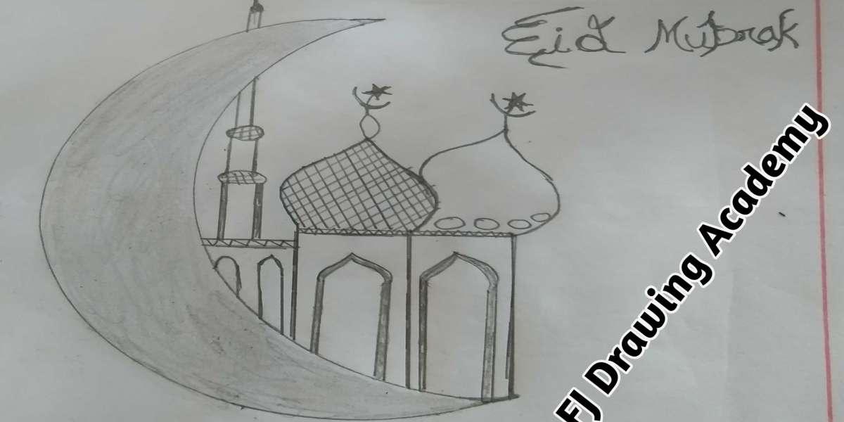 How to Draw Eid Mubarak