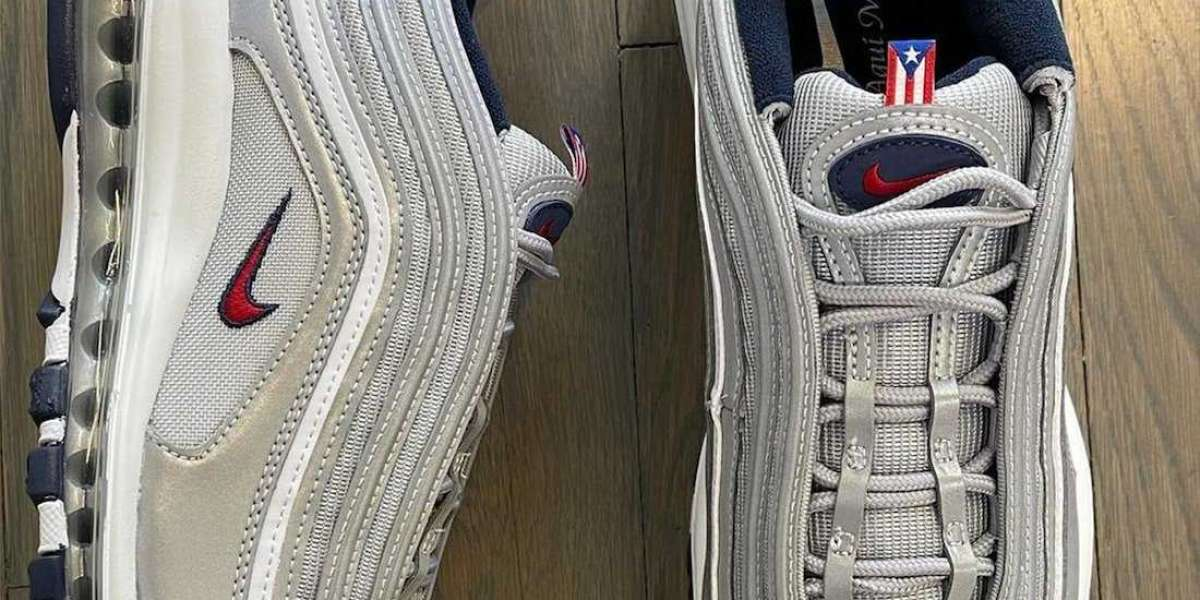 """Brand New Nike Air Max 97 OG SP """"Puerto Rico"""" Lifestyle Shoes"""